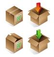 Icon of shipping box vector