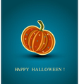 Background with a pumpkin vector
