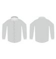 Dress shirt or blouse template vector