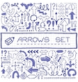 Hand drawn arrow icons with question and vector