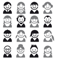 People faces vector