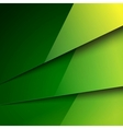 Abstract background with green metal layers vector