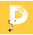 Paint roller alphabet d vector