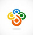 Teamwork diversity people circle logo vector