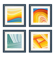 Four abstract artworks vector