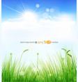Background with a blue sky vector