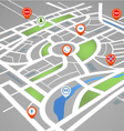 Abstract city map with symbols vector