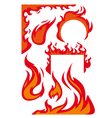 Flame borders vector
