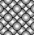 Seamless black and white geometric background vector