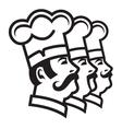Mustachioed chefs set vector