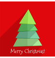 Flat christmas tree design vector