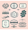 Vintage style wedding border and frames vector