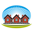 Real estate conceptual picture of houses construct vector