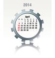 April 2014 - calendar vector