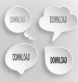 Download white flat buttons on gray background vector