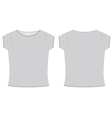 Basic ladies tshirt template vector