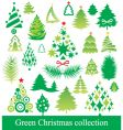 Set of christmas tree vector