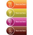 Drinks label vector