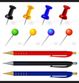 Pens and pins vector