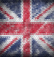Mosaic british flag background - vector