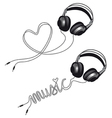 Headphone with heart vector