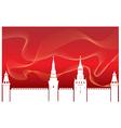 Silhouette kremlin vector
