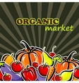Vegetables and fruit organic food concept vector