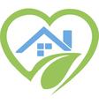 House in heart logo vector