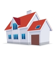 Home with garage icon vector