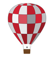 Red white air balloon vector
