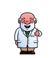 Scientist giving thumbs up vector