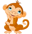 Monkey thinking vector
