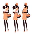 Fashionable pregnancy vector