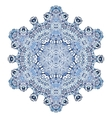 Six-pointed snowflake pattern vector