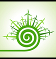 Ecology concept - wind mill with spiral design vector