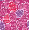 Easter eggs seamless background vector