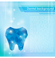 Abstract blue background with crystal tooth vector