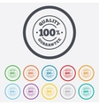 100 quality guarantee icon premium quality vector