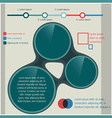 Stylish infographic template vector