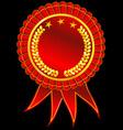 Golden award ribbon vector