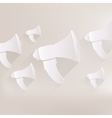 Loudspeaker icon microphone symbol vector