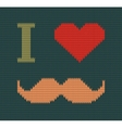 I love mustache knitted vector