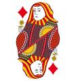Queen of diamonds no card vector