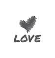 Sketch heart love vector