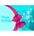 Happy birthday with shine triangle and ribbon vector