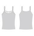 Ladies spaghetti shirt template vector
