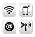 Wifi network internet zone buttons set vector