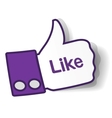 Thumbs up paper sticker vector