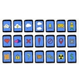 Set of cartoon tablets with different functions vector