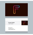 Business card letter f vector